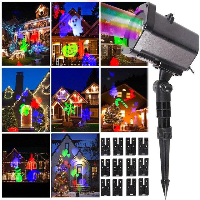 De no l en plein air projecteur laser lumi re 12 mod les commutables tanche paysage projecteur for Projecteur laser lumiere noel