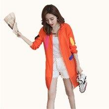 Summer Hooded Thin Sunscreen Jacket Women Coat 2019 Casual Zipper Female sun protection Outwear big size beach coat S-2XL