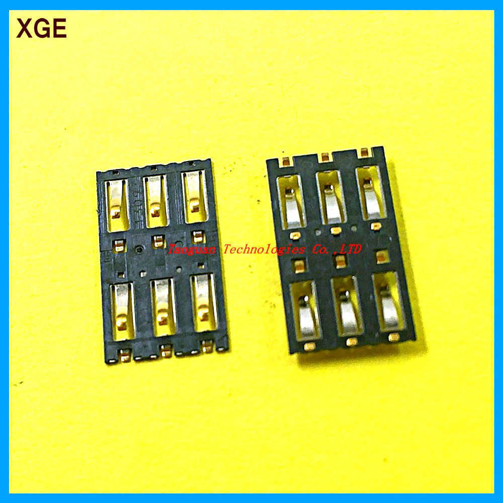 2pcs/Lot XGE New replacement for Xiaomi Mi 3 Mi3 SIM Card socket slot tray reader connector top quality