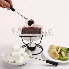 Фондюшница для шоколада, чашка с горелкой, сделай самостоятельно шоколад для Haggen Dazs мороженого