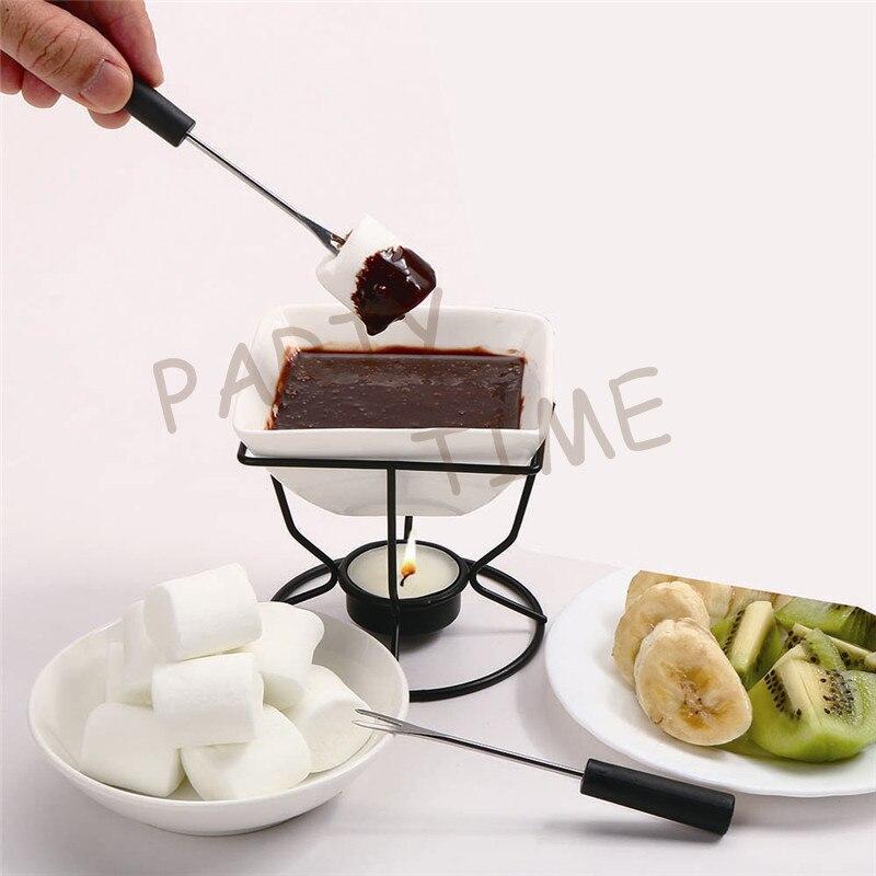 DIY Chocolate Fondue Set Haggen Dazs Ice cream Bowl Chocolate Warmer