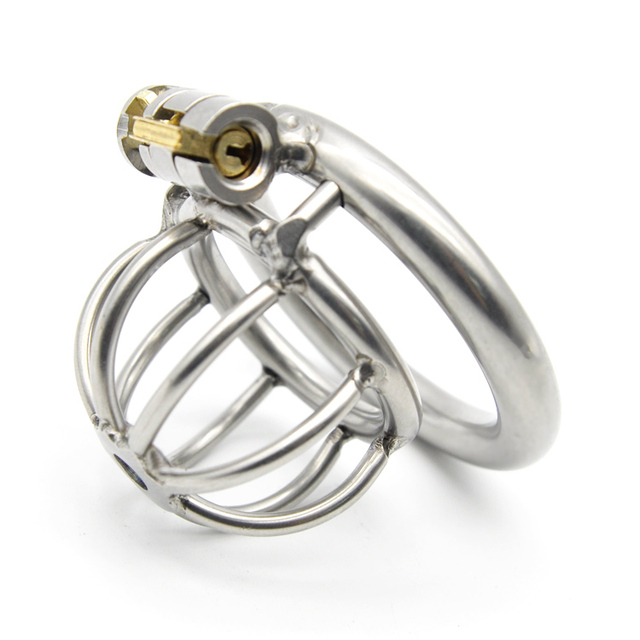 Super Small Stainless Steel Male Chastity Device Cock Cage Virginity Lock Penis Lock Cock Ring Chastity Belt A282