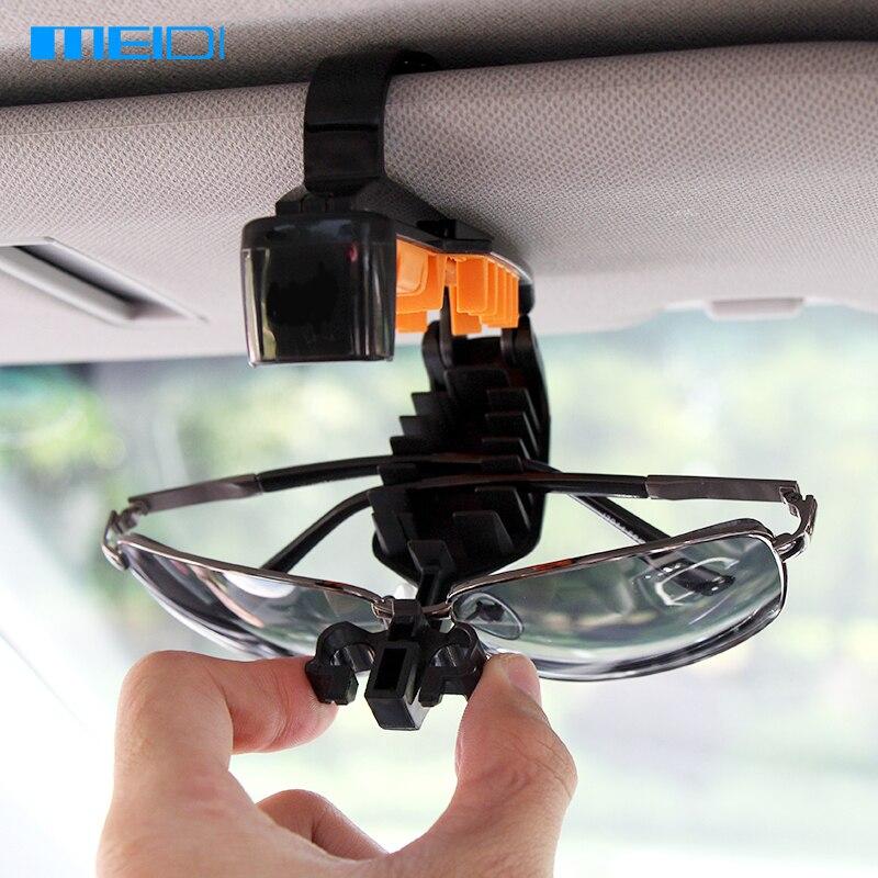 MEIDI Universal Auto Sonnenblende Halterung Brille Clip Tragbare Nutzfahrzeug Sonnenbrille Visier Halter Auto Brillengestell