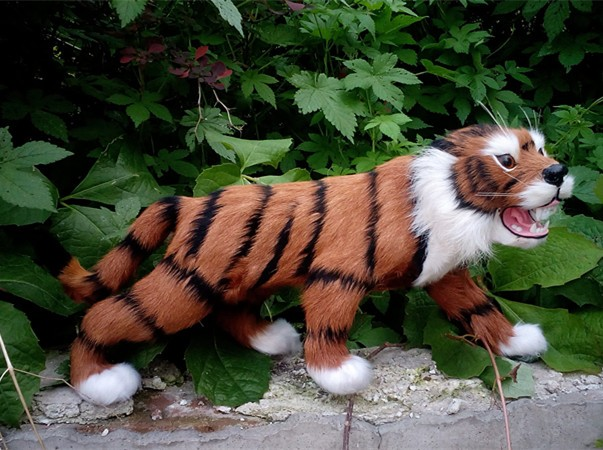 simulation cute tiger 36x17cm model polyethylene&furs tiger model home decoration props ,model gift d426 simulation cute sleeping cat 25x21cm model polyethylene