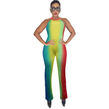 spring new womens sexy jumpsuit backless tie dyed positioning print casual tight bodysuit