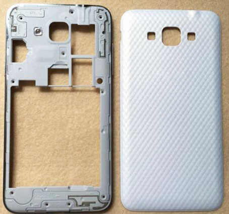Original Middle plate frame battery door housing+side button For Samsung Galaxy Grand Max G7200