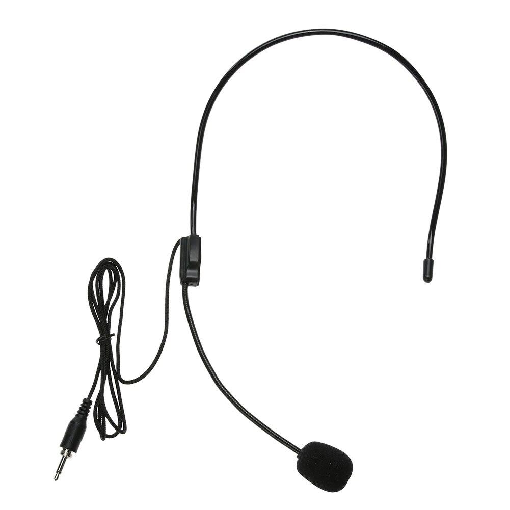 Mini auricular ligero portátil de 3,5mm de rosca Jack micrófono condensador de una sola dirección 3,5mm 100-16kHz micrófono