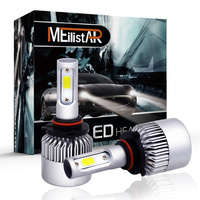 S2 72W 9005 HB3 COB LED Headlight Bulbs Conversion Kit 8000LM 6500K Single Beam All In