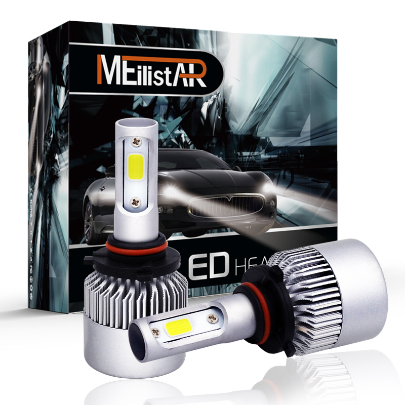 S2 72W 9005/HB3 COB LED Headlight Bulbs Conversion Kit 8000LM 6500K Single Beam All In O ...