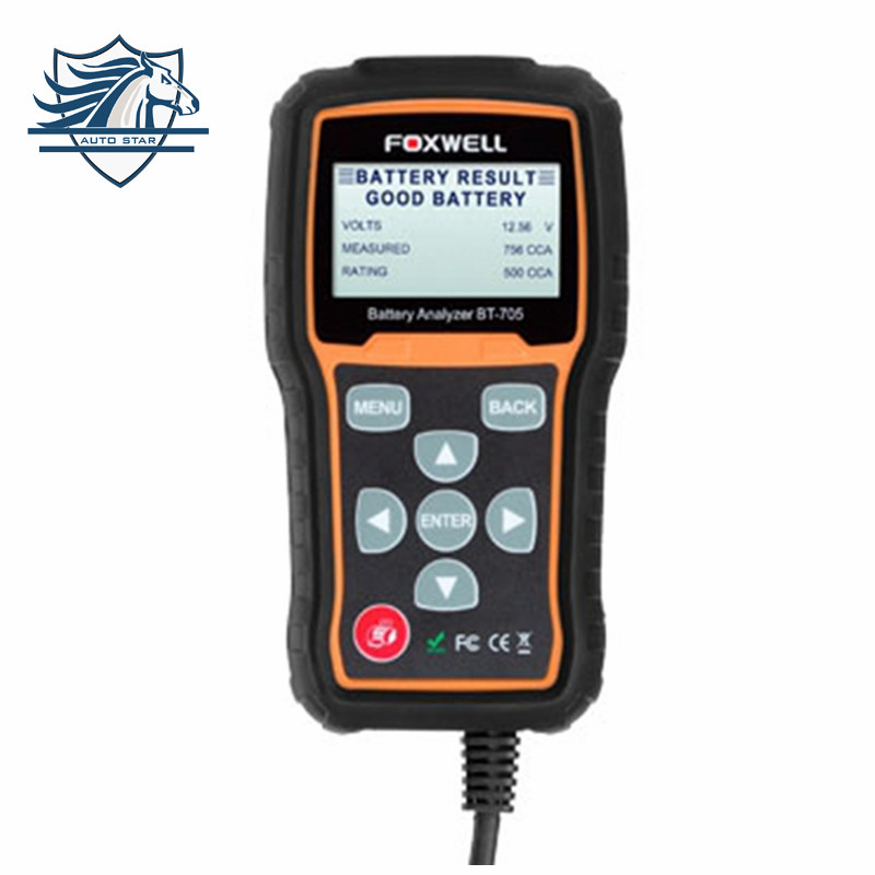 цены  Car Battery Tester 12V Capacity Digital Meter Voltage Detect Bad Car Cell Battery Foxwell BT705 100 to 2000CCA Russian Language
