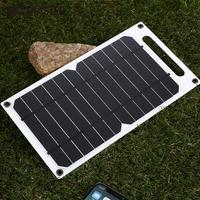 Ultra Slim Solar Panel Charging Panel External Battery Charger MP4 Hiking Tablet 5W Monocrystalline Silicon Micro Usb Port