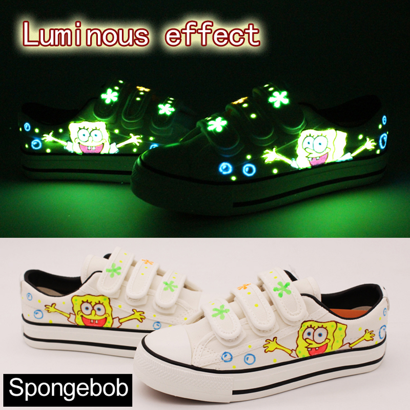 various colors bedd9 06461 Aliexpress.com   Buy Women Luminous Canvas Shoes 2018 new white hand  painted casual sneakers light up autumn students walking shoes Tenis  Feminino from ...