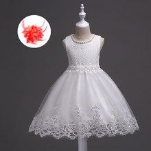 eecfb706cf Dziewczyny sukienka na imprezę dla dzieci elegancki ślub kwiat pasy i  koralik koronki skrzydła perły szyi