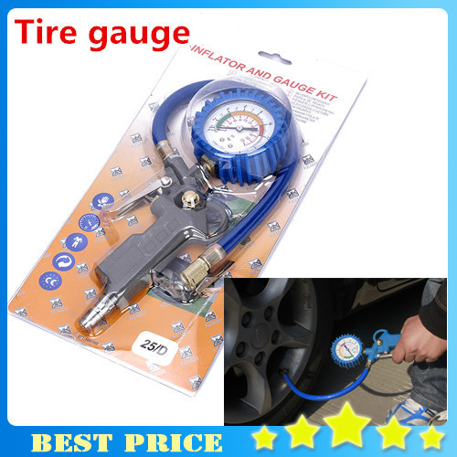 0 ~ 300 PSI ( 0 ~ 16 Bar ) Car Motorbike Truck Tire Tyre Air Inflator Dial Pressure Metal Gauge Measurement