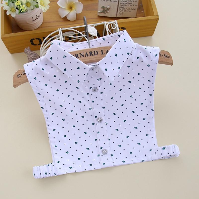 Kid Fake Collar Girls Children Print Detachable Collars Kraagie Cotton Faux Half Shirt Child Kraagie Nep False Collar Croptop