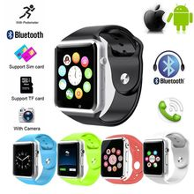 A1 Bluetooth GSM SIM Smart Wrist Watch Phone Calories for HTC LG Samsung Anti-lost Wearable dialer For Android IOS iPhone