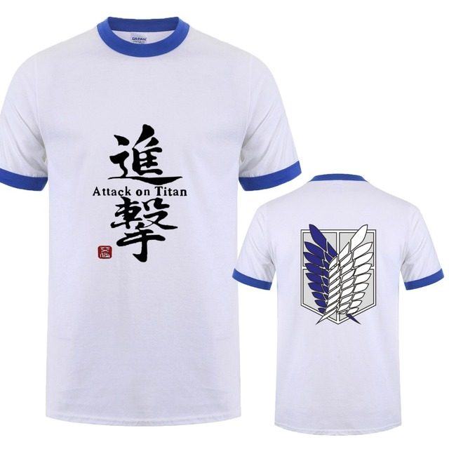 Japanese Anime Attack On Titan Men T Shirts
