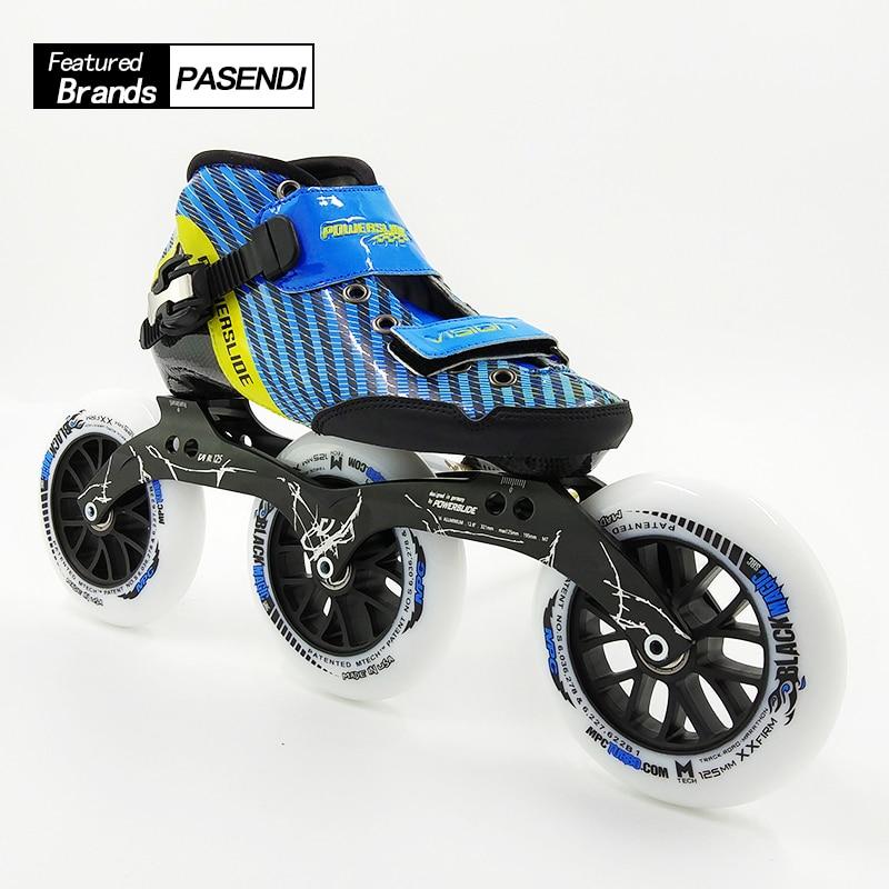 2018 NEW Arrival Roller Skating Shoes Women/Men Inline Skates Professional Speed Skate Boots Adult 125 Wheels Carbon Fiber Shoe theory повседневные брюки