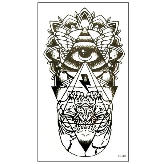 Hot sales Temporary Tattoo Sticker totem tattoo body art Waterproof fake tattoo God s eye flash tattoos for woman men henna ...