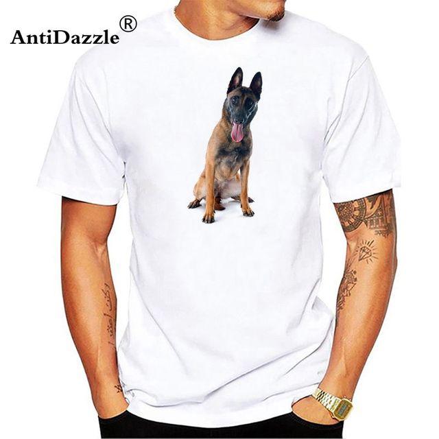 01887fd4b7c Antidazzle Belgian Malinois Men s TShirt Short Sleeve Fitness T-Shirt Man  Oversized Clothing Cotton O-Neck Great Male Tee Shirt