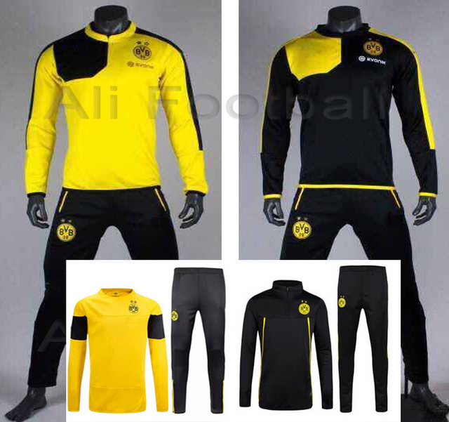 2016 borussia bortmund training suits 2015 dortmund bvb tracksuit 15 16  borussia dortmund rues football uniforms f2fc8374e