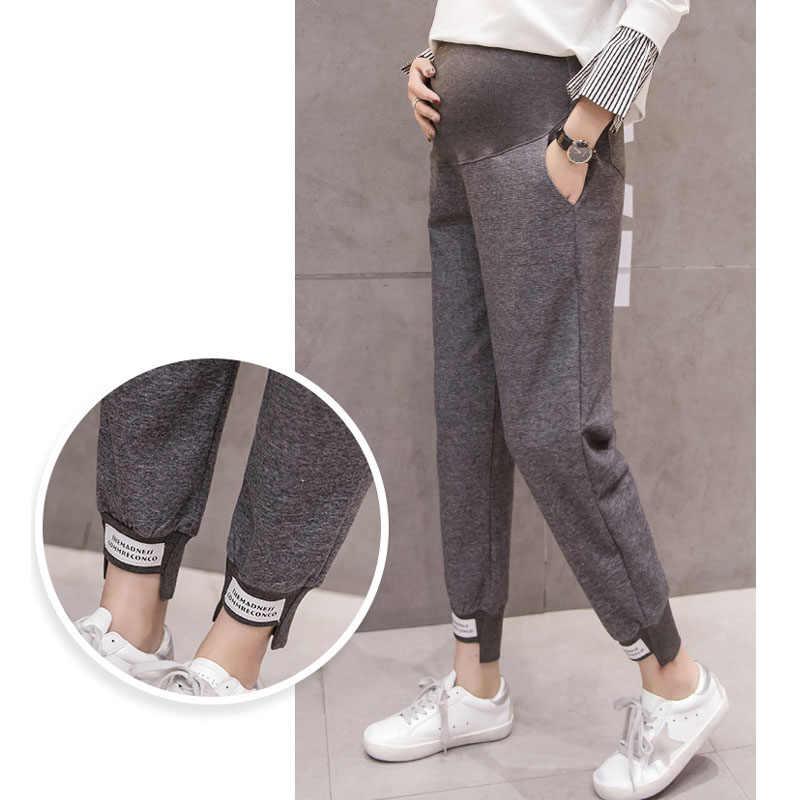 Pantalones Deportivos Para Mujeres Embarazadas Ropa De Maternidad De Punto Sueltos Informales Para Primavera Y Verano Pantalones Y Pantalones Pirata Aliexpress