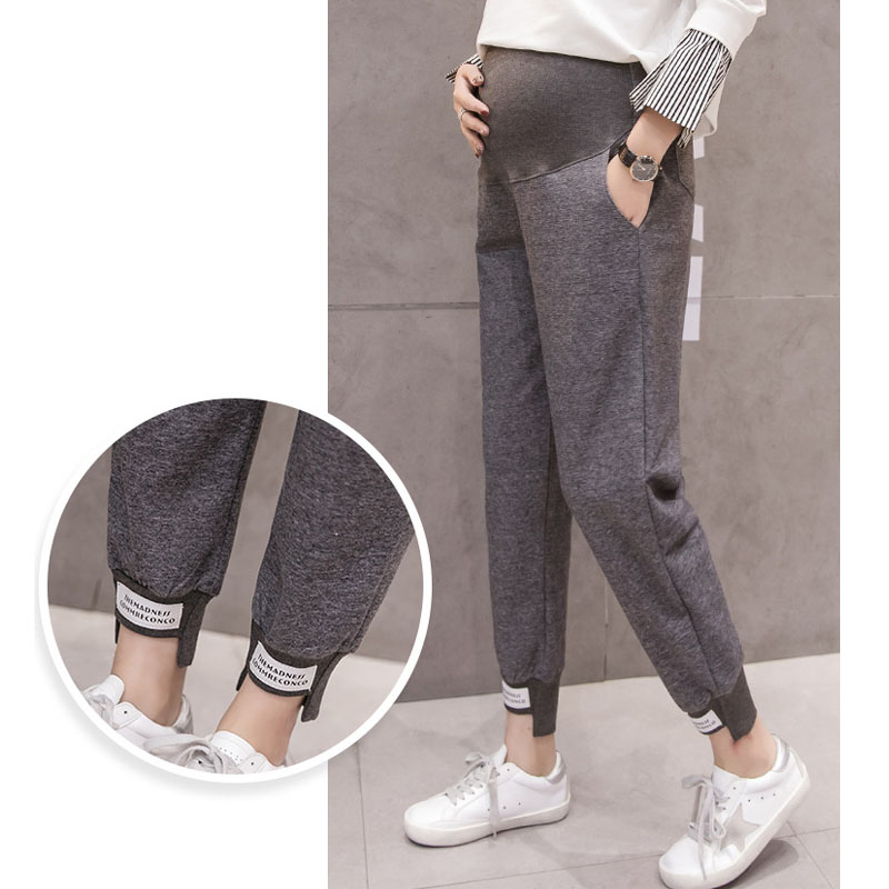 Sports Hallen Pants For Pregnant Women Maternity Clothes Knitted Casual Loose Pregnancy Pants Spring Summer Gravidas Clothing