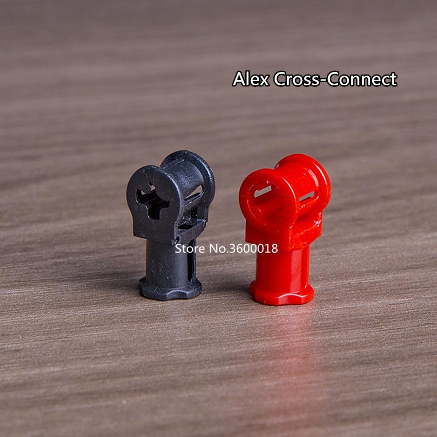 20pcs/lot Decool Technic Parts Alex Cross-Connector Compatible With Legos 32039 MOC DIY Blocks Bricks Parts Set