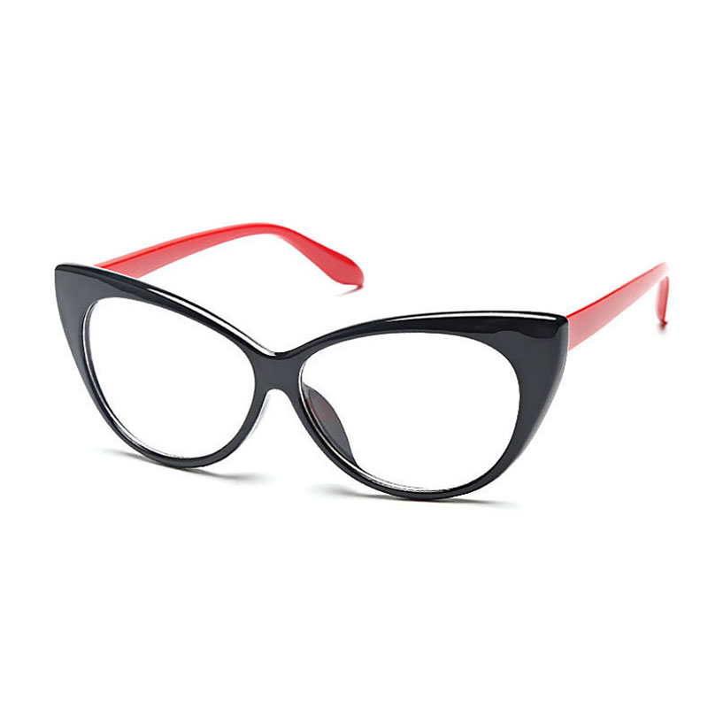Women Cat-Eye Eyeglasses Frame,77042 Plastic Super Lightweighted Fashion Eyewear Glasses Frame,8 Colors