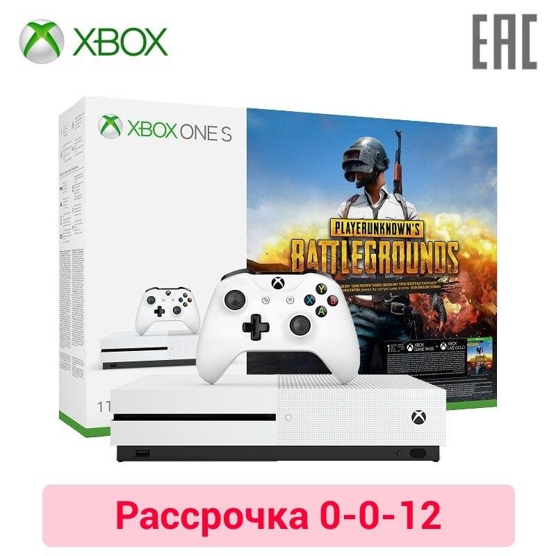 Купить со скидкой Игровая консоль Xbox One S 1 ТБ + игра Player Unknown's Battlegrounds (PUBG) в комплекте
