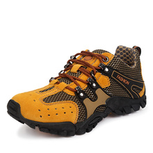 Men Outdoor Mesh Hiking Shoes Walking Climbing Mountains Sport Shoes Male Trekking Breathable Sneakers YH518