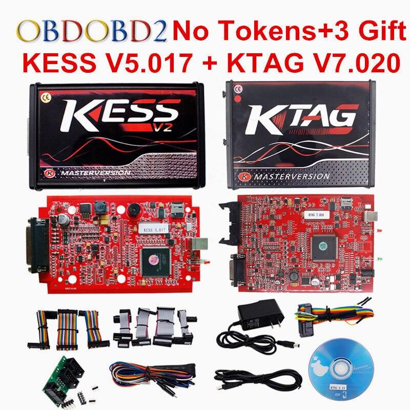 Vollen Satz KESS V2.23 + KTAG 7,020 Master KESS V2 V5.017 OBDII Manager Tuning Kit Kein Tokens K-TAG K TAG V7.020 ECU Programmierer Werkzeug