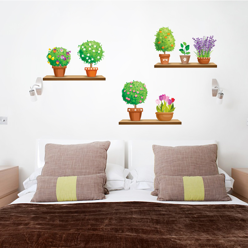 Plant Wall Decal Sticker Home Decor Diy Removable Art