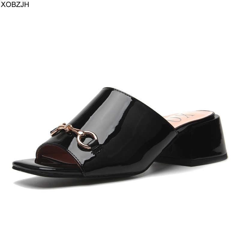 Summer Block Heel Luxury Sandals Women