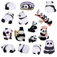 1pcs Panda Embroidery Patch Iron On Patches For Clothes parches bordados Jacket Appliques Cartoon Hoodies Coat Dress Jeans Decor(China)