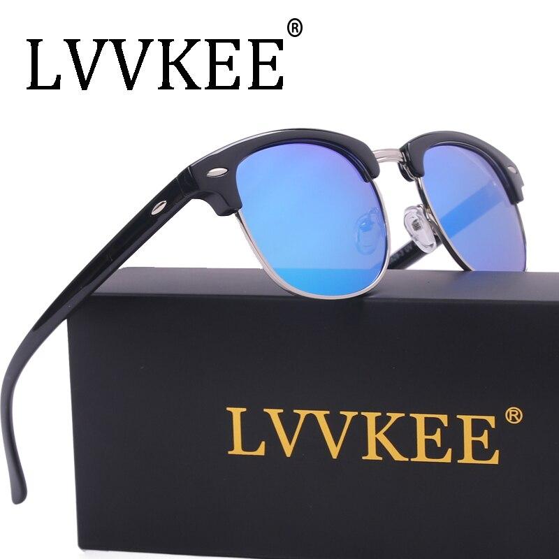 ce17d4e40 LVVKEE Marca 2017 Hot sale metade quadro Polarizado óculos de sol Do Clube  Mestre gafas óculos de Sol óculos ao ar livre óculos de condução UV400 óculos  de ...