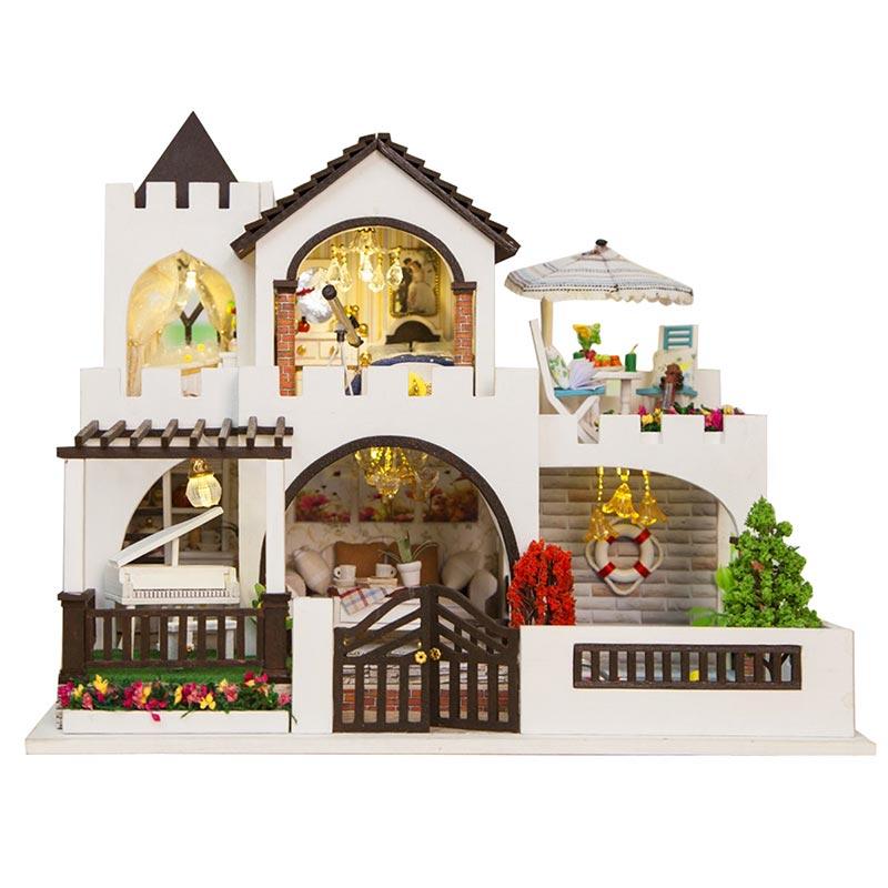 Bricolage maison de poupée meubles en bois mon rêve château filles jouet à la main maison de poupée en bois décoration bricolage jouets pour enfants fille cadeau