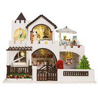 DIY Doll House Wooden Furniture My Dream Castle Girls Toy Handmade Doll house Wood DIY Home Decor Toys For Children Girl Gift