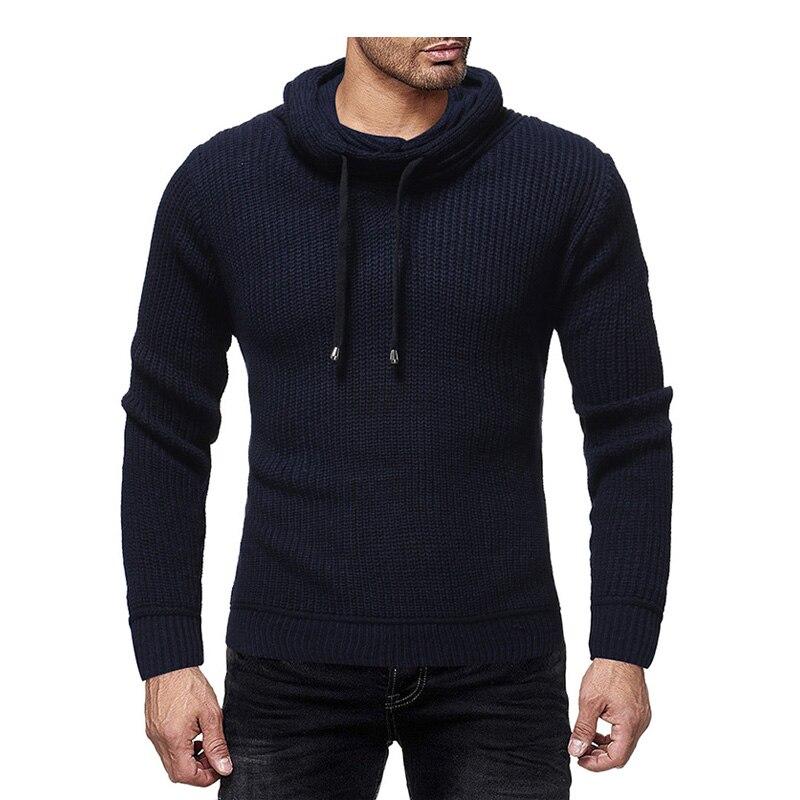 2019 Mens Zip Wool Sweater Pullover Long Sleeve Half-Zipper Sweater Jumper Knitwear Winter Cashmere Outerwears For Men XXL