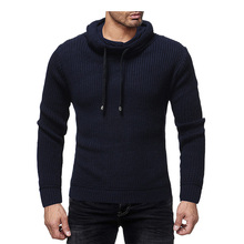 2019 Mens Zip Wool Sweater Pullover Long Sleeve Half-Zipper Sweater Jumper Knitwear Winter Cashmere Outerwears For Men XXL cable knit half zip up pullover sweater