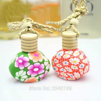 12ML30pcs/lot Hot Sale Aromatherapy Glass n Polymer Clay Bottle, Perfume Container Vial with Cork, Portable Essential Oil Bottle