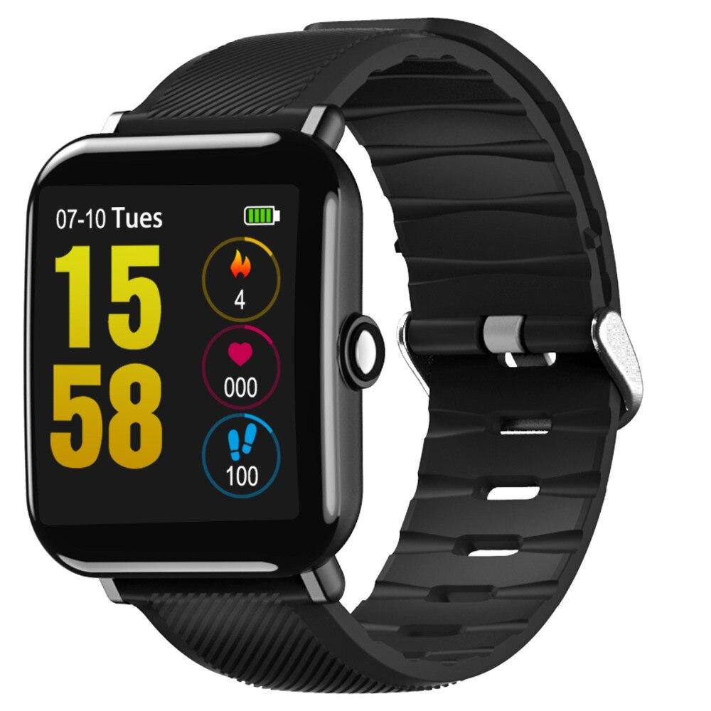 OUKITEL W2 Водонепроницаемый IP67 Смарт-часы мониторинга сердечного ритма Шагомер удаленной Камера Сидячий напоминание 1,3 дюйма спортивные часы