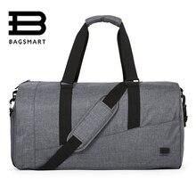 BAGSMART Bolso de viaje para hombres de gran capacidad llevar equipaje Bolso de viaje de nylon duffle bolsos de fin de semana bolsos de viaje Totalizador de viaje