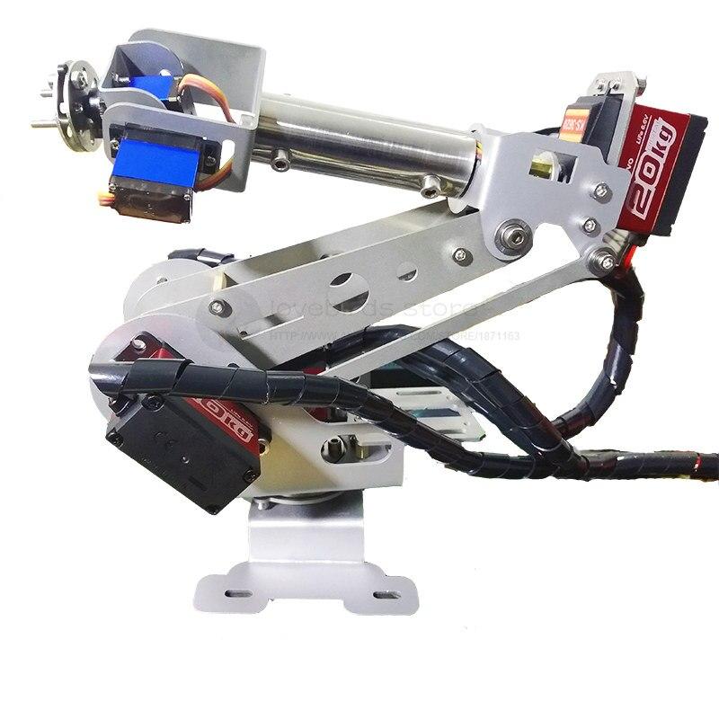 CNC en alliage d'aluminium 6DOF rotation bras robotique 6-asix ABB robot industriel modèle cadeau arduino r3 + servo extender