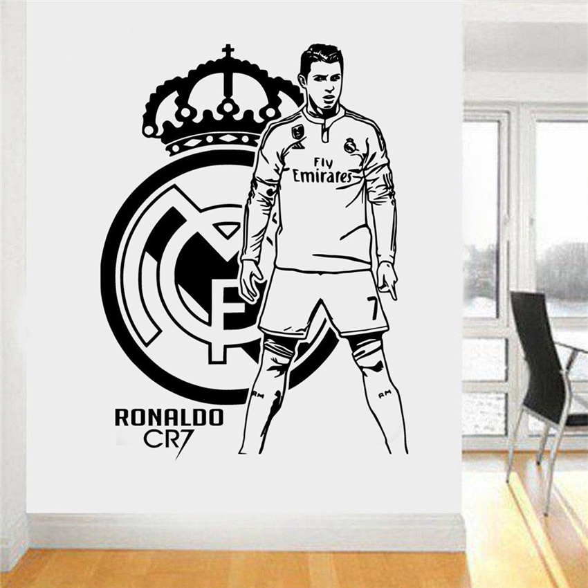 Cristiano Ronaldo Portugal Footballer Player Decal Wall Art Sticker Picture 2018