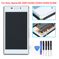 For Sony Xperia M2 S50H D2302 D2303 D2305 D2306 LCD Display Touch Screen Digitizer + Bezel Frame Assembly +Tools, Free Shipping