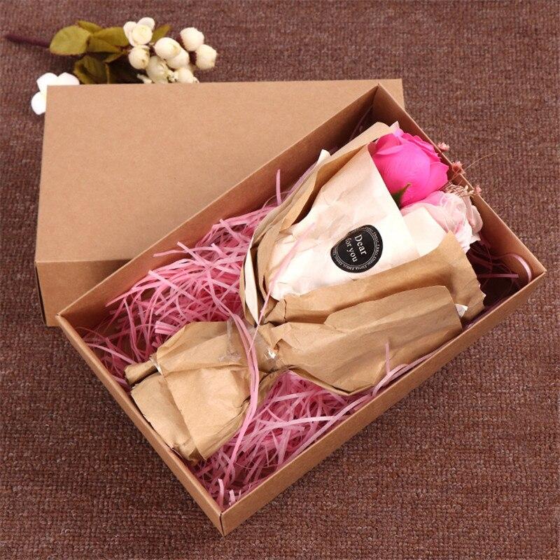 30pcs lot White Black Brown Large Kraft paper gift packaging box kraft cardboard handmade Socks underwear