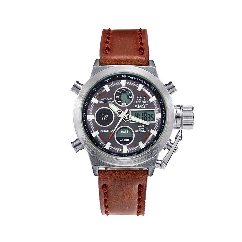 AMST Luminous Waterproof Multi-function Watch Handlace Men Hand Wearing Chain Watch