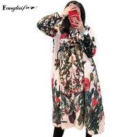 Fang Tai Fur 2019 Женская импортная бархатная норковая шуба с v образным вырезом и принтом тонкая китайская норковая шуба с узлом Женская X Long насто