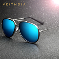 VEITHDIA Brand Fashion Alloy Glasses Polarized Coating Mirror Driving Sunglasses Male Oculos masculino For Men / Women 2725